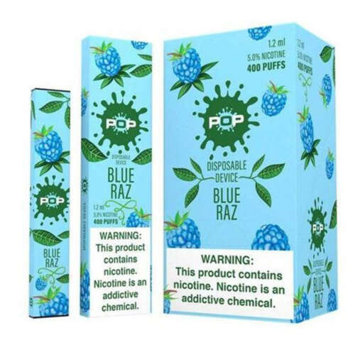 Pop Blue Raz Disposable Device