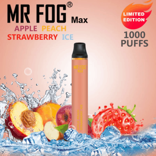 Mr. Fog Max Apple Peach Strawberry Ice