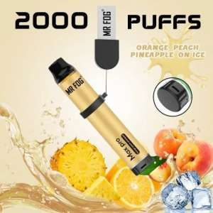 Mr. Fog Max Pro 2000 Puffs Orange Peach Pineapple on Ice