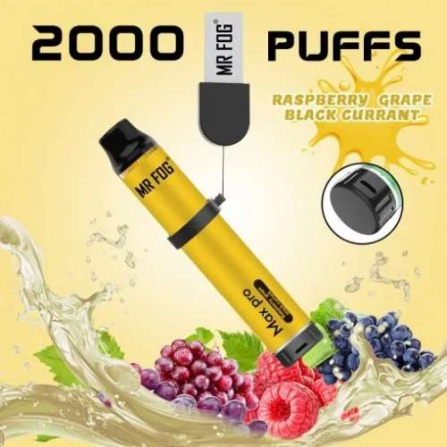 Mr. Fog Max Pro 2000 Puffs Raspberry Grape Black Currant