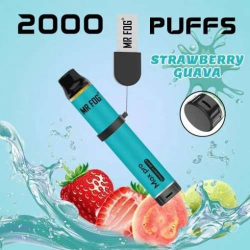 Mr. Fog Max Pro 2000 Puffs Strawberry Guava