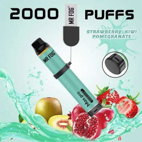 Mr. Fog Max Pro 2000 Puffs Strawberry Kiwi Pomegranate